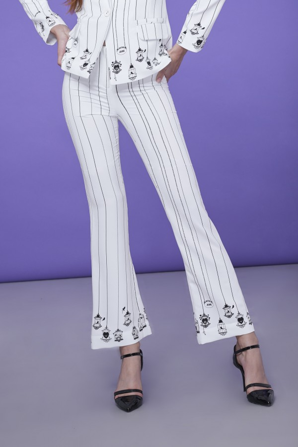 Signature Bird Cage Wide Leg Pants