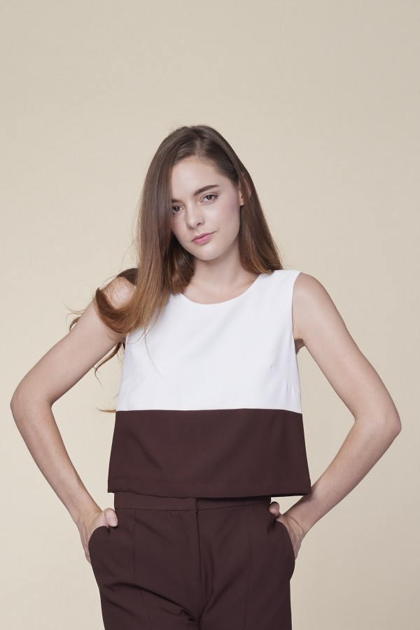 Two Tone Crop Top