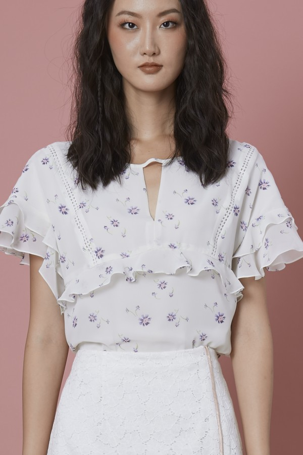 Little Flora Ruffle Blouse